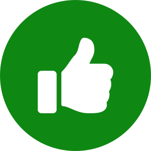 Thumbs up icon in circle