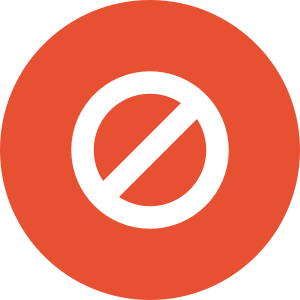 Cancel icon in circle