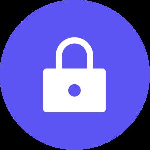 Lock icon in circle