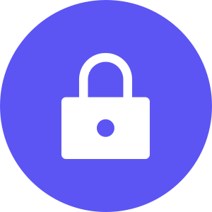 Lock icon in circle